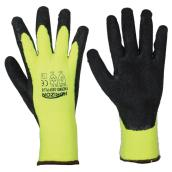 Yellow Latex High-Visibility Large Gloves