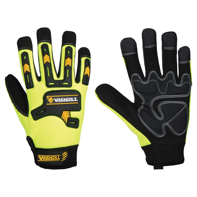 High-Visibility Working Gloves - X-Large