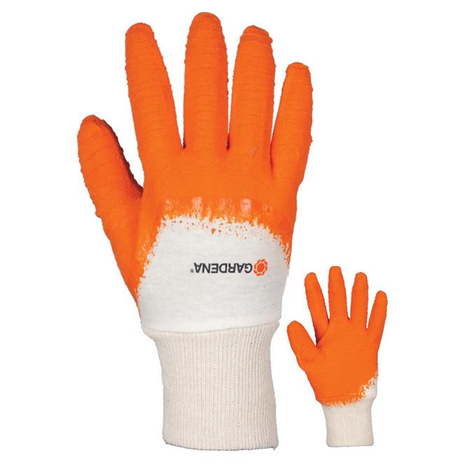 Gardening Gloves for Women - S/M - Latex - Orange