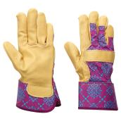 Gardening Gloves for Women - Leather - Large - Purple