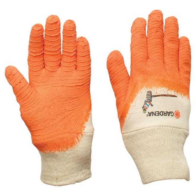 Gardena Gants de jardinage pour enfants en latex, orange/blanc 758129KGA