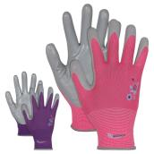 Gardening Gloves for Women - Nitrile - M/L - Assorted Colors