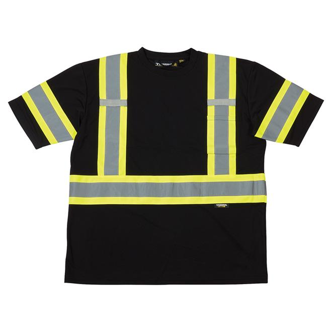 High Visibility Short Sleeve Shirt - Large - Black