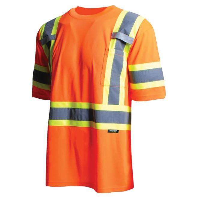High Visibility Short Sleeve Shirt - Medium - Orange