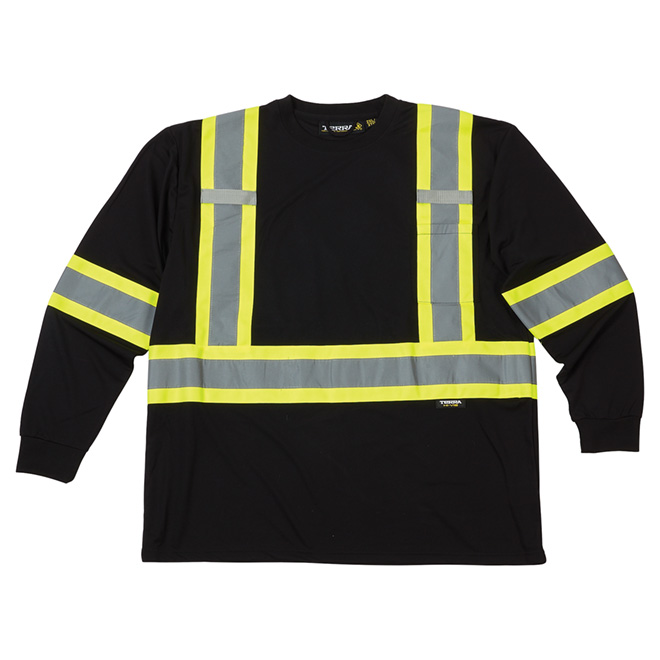 High Visibility Short Sleeve Shirt - 2XL - Black
