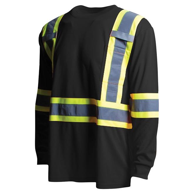 High Visibility Short Sleeve Shirt - Medium - Black