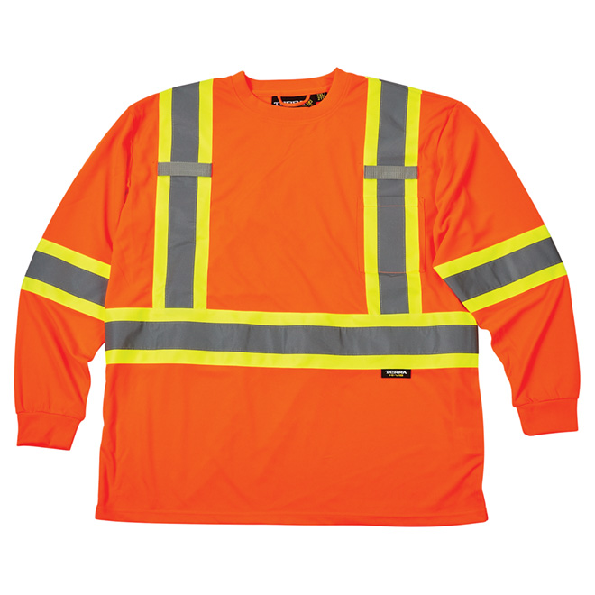 High Visibility Long-Sleeved Shirt - Large - Orange