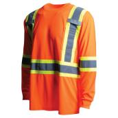 High Visibility Long-Sleeved Shirt - XL - Orange