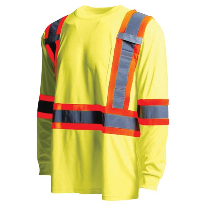 High Visibility Short Sleeve Shirt - Large - Yellow