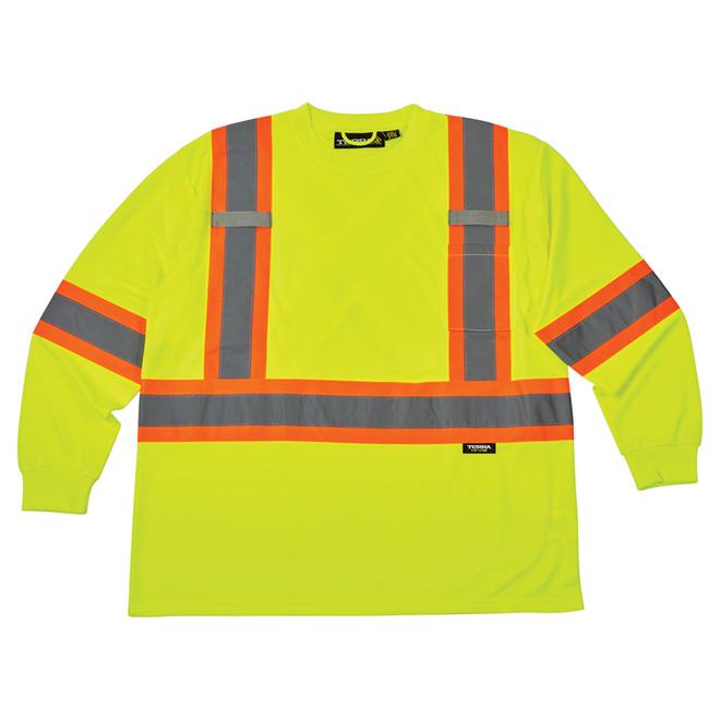 High Visibility Long-Sleeved Shirt - Large - Yellow