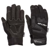 Men's Synthetic Leather Mechanic Gloves - Black - L