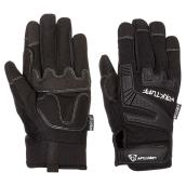 Gants de mécanicien en cuir synthétique pour homme, noir, TG
