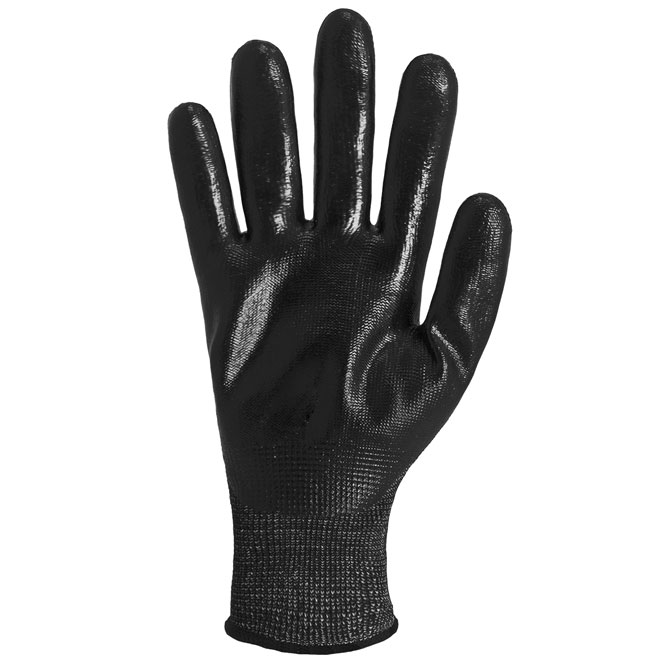 Men's Level 5 Cut-Resistant Nitrile-Dipped Work Gloves - L