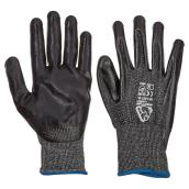Men's Level 5 Cut-Resistant Nitrile-Dipped Work Gloves - XL