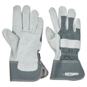 Women's Cow Split Leather Work Gloves - Grey