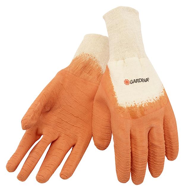 Gardena Gants de jardinage enduits de latex pour femme, orange, M-G 758129GAML