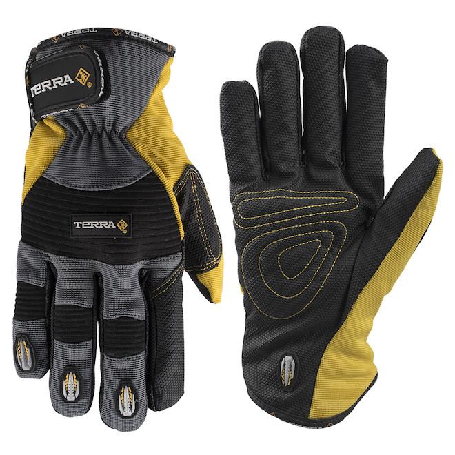 Mechanic Winter Gloves - Fleece - Yellow/Black - M