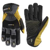 Mechanic Winter Gloves - Fleece - Yellow/Black - M