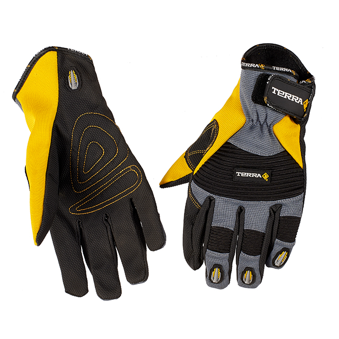 Mechanic Winter Gloves - Fleece - Yellow/Black - XL