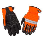Hi-Visibility Mechanic Insulated Gloves - Orange/Black - M-L
