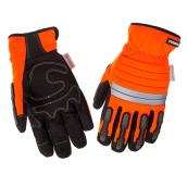 Hi-Visibility Mechanic Insulated Gloves - Orange/Black - L-XL