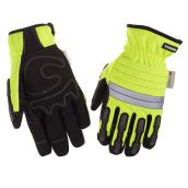 Hi-Visibility Mechanic Insulated Gloves - Yellow/Black - L-XL