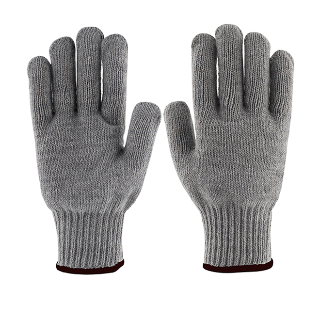 Men's Cotton and Polyester Work Gloves - Grey - 12 Pairs