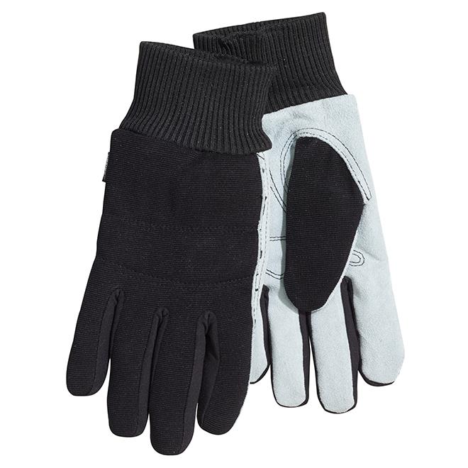 Men's Split Leather Hybrid Mechanic Gloves - M-L