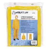 Men's 2-Piece Rain Suit - PVC - Yellow - XL
