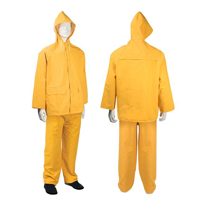 Habit de pluie 2 pièces pour homme, PCV, jaune, TG