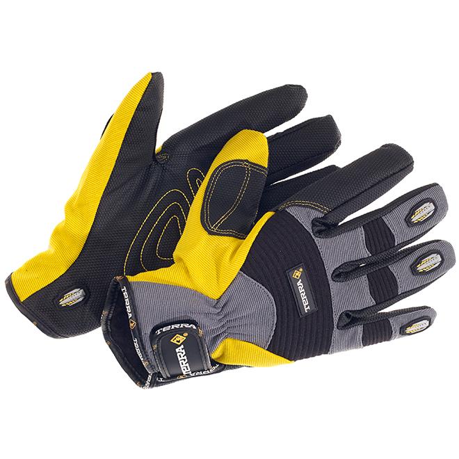 Nylon and Spandex Work Gloves - XXL Size - Black