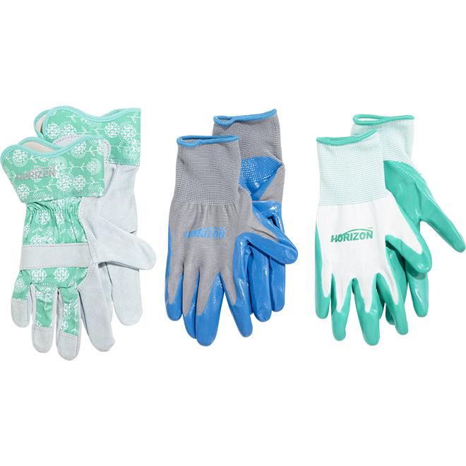 Horizon Women Gardening Gloves - Pack of 3 Pairs