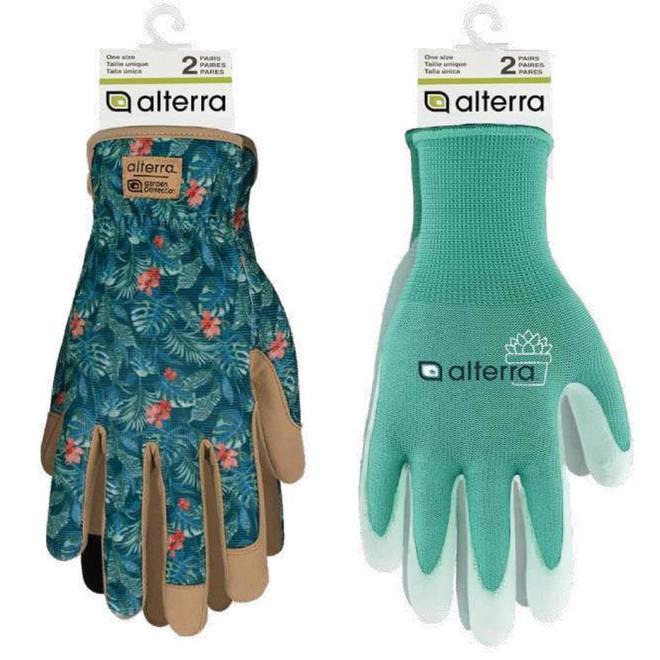Alterra 2-Pack Assorted Gardening Gloves - Women One Size