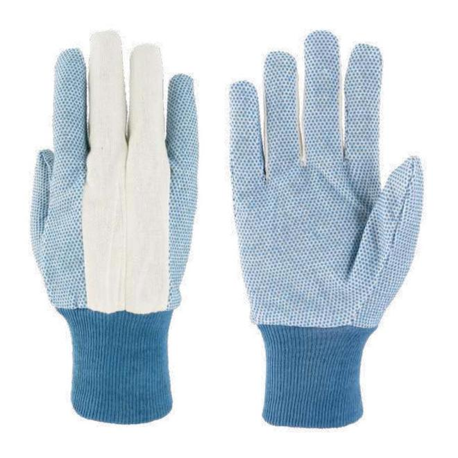 Alterra Women One Size Fits All Blue Cotton/PVC Garden Gloves