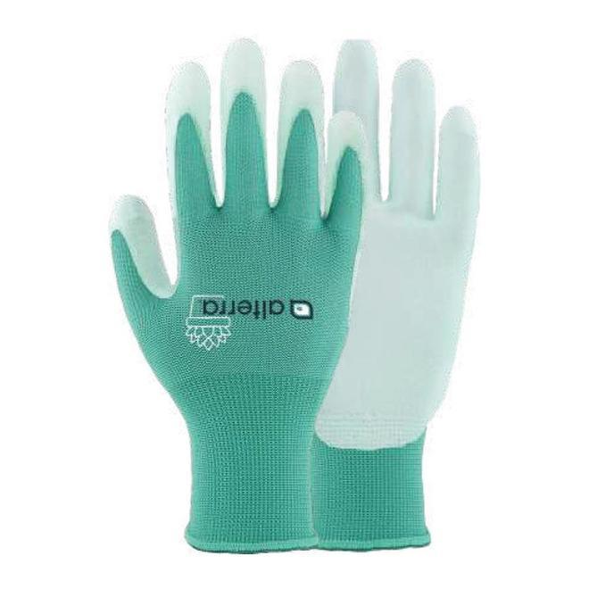 Alterra Polyurethane-Dipped Polyester Garden Gloves for Women - Medium-Large - Aqua