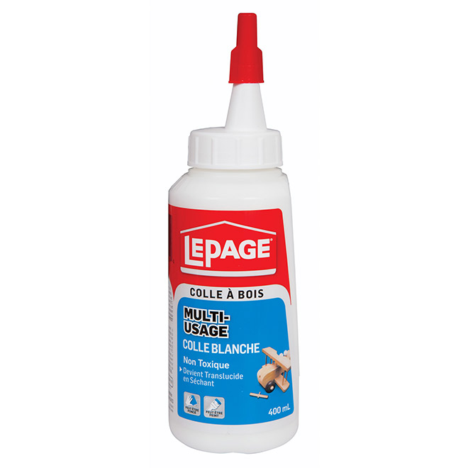 Colle blanche multi-usage LePage, 400 ml