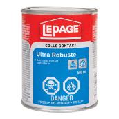 Colle contact ultra robuste LePage, 500 ml