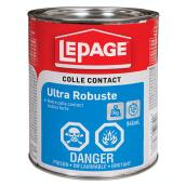 Colle contact ultra robuste LePage, 946 ml