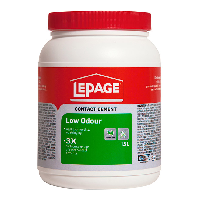 LePage Low Odour Contact Cement - 1.5 L