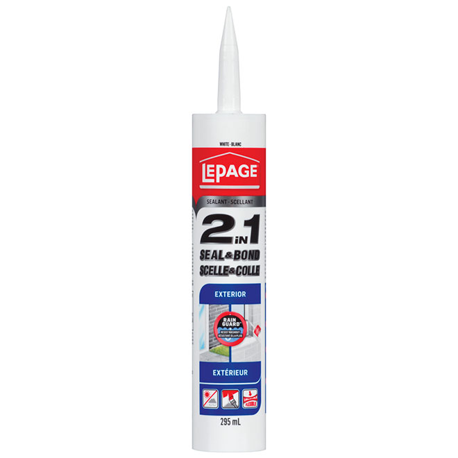 LePage Exterior Sealant 2 in 1 - White - 295 mL