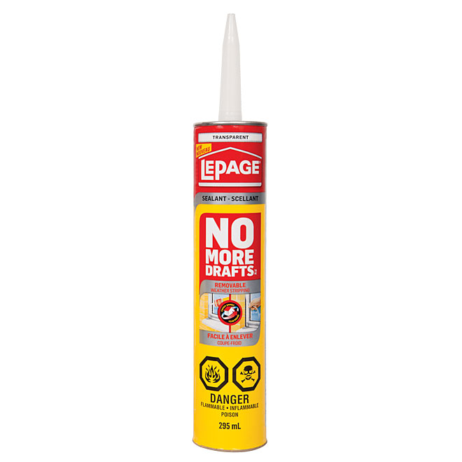 LePage No More Drafts Removeable Weather Stripping - 295 mL