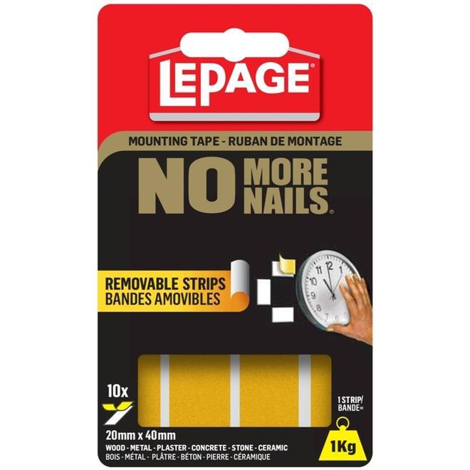"Removable Adhesive Strips - ""No More Nails"""
