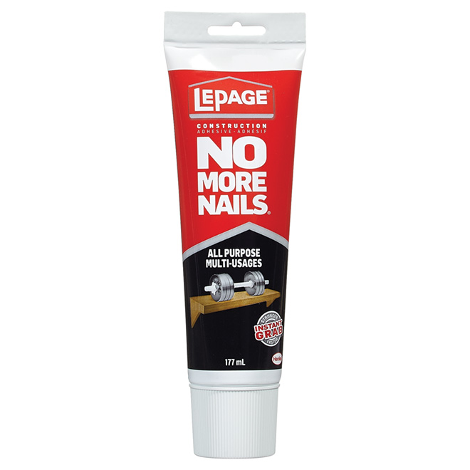No More Nails All-Purpose Adhesive - White - 177 mL