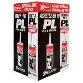 Adhésif à construction PL Premium, Paq/10+2, 295 ml