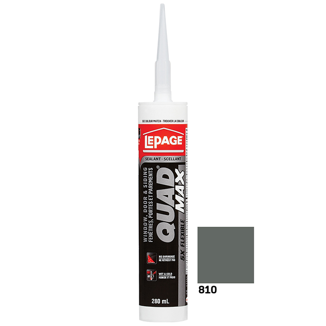 QUAD MAX Sealant - Doors and Windows - 280 mL - Granite