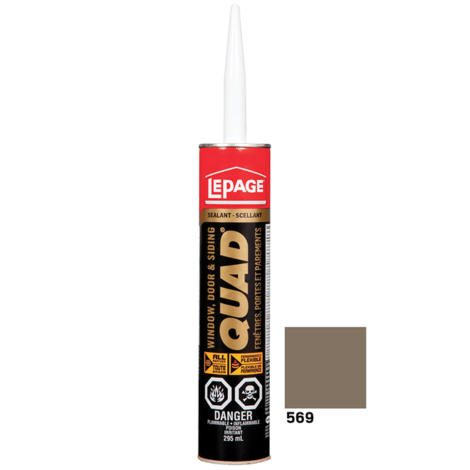 QUAD Doors and Windows Sealant - 295 mL - Pewter
