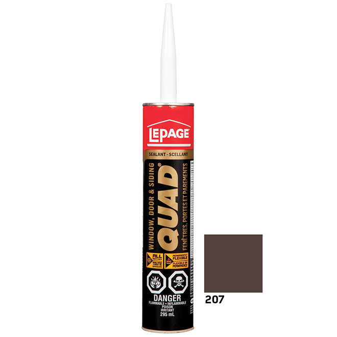 QUAD Doors and Windows Sealant - 295 mL - Chestnut Brown