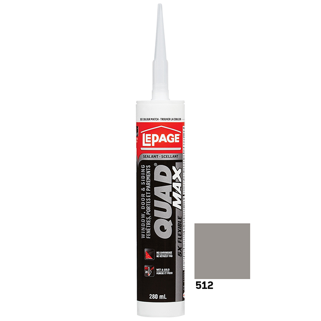 QUAD MAX Sealant - Doors and Windows - 280 mL - Barn Wood