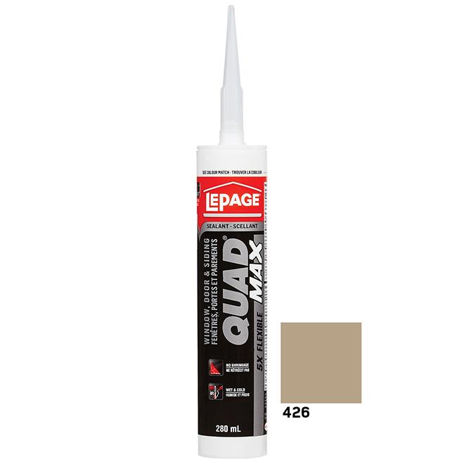 QUAD MAX Sealant - Doors and Windows - 280 ml - Sand