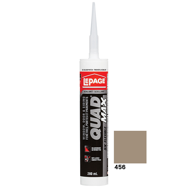 LePage Quad Max Doors and Windows Sealant - Khaki - 295 mL